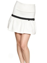 RED Valentino Grosgrain Stretch Cotton Jersey Skirt