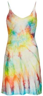 Dannijo Tie-Dye Silk Mini Slip Dress