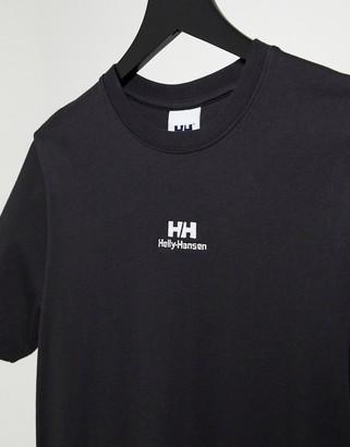 Helly Hansen YU Twin logo t-shirt in black