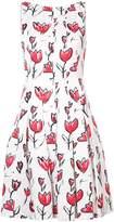 Oscar de la Renta floral-print pleated dress