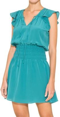 Parker Dorel Ruffle Blouson Dress