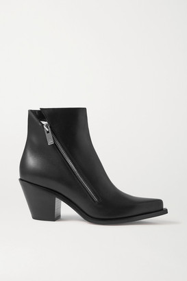 Christian Louboutin Santiazip 65 Leather Ankle Boots - Black