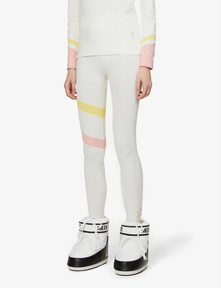 Perfect Moment Tignes colour-blocked mid-rise stretch-knitted leggings
