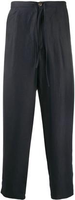 Societe Anonyme High-Waisted Drop Crotch Trousers