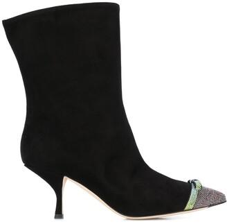 Marco De Vincenzo Crystal Embellished Boots