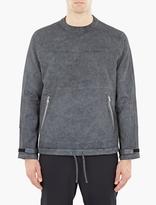 Stone Island Shadow Project Grey Garment-Dyed Sweatshirt