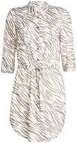 Heidi Klein Kalahari Rounded Hem Printed Shirt Dress