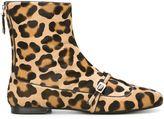 No.21 leopard print ankle boots