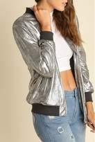 Umgee USA Metallic Zippered Jacket