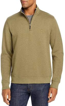 Brooks Brothers Knit Cotton Terry Half-Zip Sweater