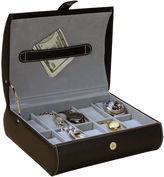 Asstd National Brand Mele & Co. Parker Black Faux Leather Watch Case