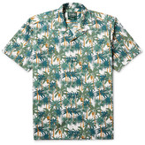 Gitman Brothers Camp-Collar Printed Cotton-Poplin Shirt