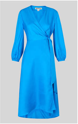 Whistles Callie Silk Wrap Dress