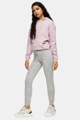 Topshop Womens Grey Marl Super Soft Joggers - Grey Marl