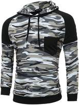 Allonly Men's Casual Pullover Long Sleeve Hoodies Camouflage Hoodie Jacket