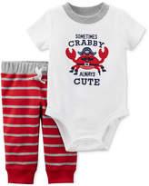 Carter's 2-Pc. Cotton Crab Bodysuit & Pants Set, Baby Boys
