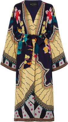 Etro Printed Satin Midi-Length Kimono