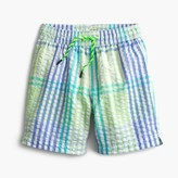 J.Crew Boys' swim trunk in seersucker