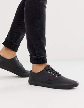 Jack and Jones smart plimsolls in black