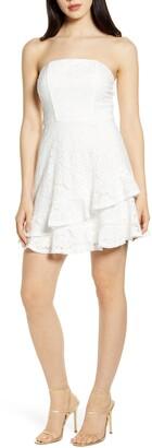 Speechless Strapless Lace Minidress