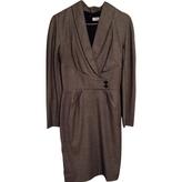 Christian Dior Grey Wool Dress