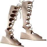 Chloé Beige Suede Sandals