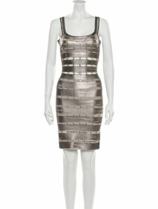 Herve Leger Printed Mini Dress Grey