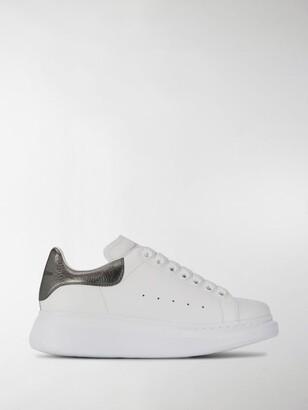 Alexander McQueen Oversized metallic leather sneakers