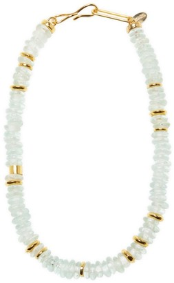 Lizzie Fortunato Laguna 18K Goldplated & Aqua-Colored Glass Bead Necklace