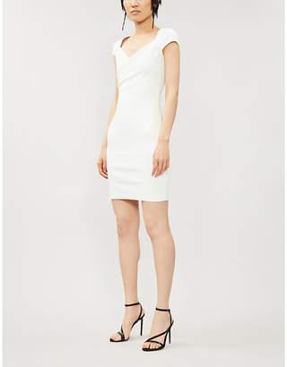 Jitrois Fauve sweetheart-neck leather mini dress