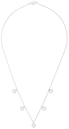 Dana Rebecca Designs 14kt white gold Sadie Pearl diamond station necklace