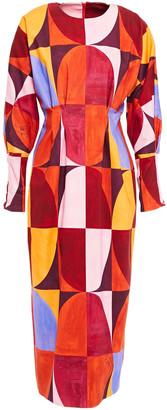 Stella Jean Printed Cotton-blend Twill Midi Dress