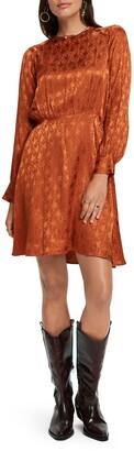 Scotch & Soda Paisley Jacquard Long Sleeve Dress