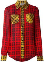 Moschino tartan check shirt - women - Silk - 40