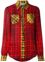 Moschino tartan check shirt