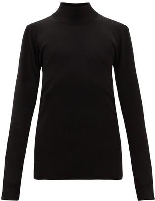 Bottega Veneta Roll-neck Technical-knit Sweater - Mens - Black