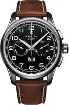 Zenith 03.2410.4010/21.C722 Pilot stainless steel and leather watch