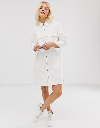 ASOS oversized denim shirt dress