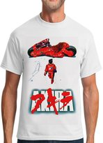 By Young Men's Japan Retro Manga AKIRA Graphic Short Sleeve Crew Neck Cotton T-shirts Tee