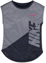 Nike Splice Heather Dri-fit T-Shirt, Toddler & Little Girls (2T-6X)