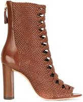 Alexandre Birman open toe ankle boots