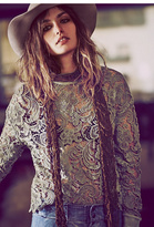 New Romantics Womens NR WASHED LACE PULLOVER