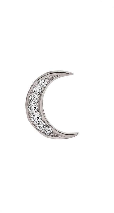 Andrea Fohrman Diamond Moon Single Stud Earring - White Gold