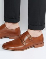 Asos Monk Shoes in Tan With Natural Sole