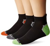 Fruit of the Loom Men's Breathable Half Cushion Low Cut Tab 3 Pack Sock