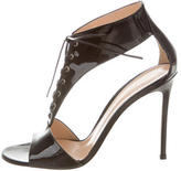 Gianvito Rossi T-Strap Lace-Up Sandals