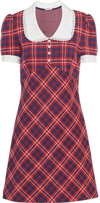 Miu Miu checked A-line dress