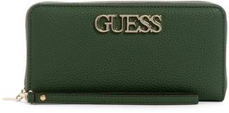 GUESS Large Uptown Zip-Around Wallet