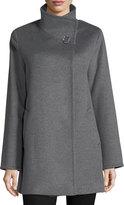 Cinzia Rocca Wool Stand-Collar Coat