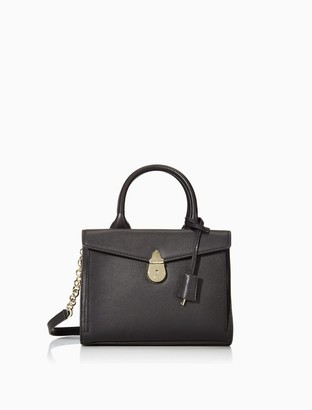 Calvin Klein Lock Leather Colorblock Satchel